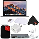 Apple 15 MacBook Pro, Retina, Touch Bar, 2.9GHz Intel Core i7 Quad Core (#MPTV2LL/A) + MicroFiber Cloth + 2.4 GHz Slim Optical Wireless Bluetooth + Padded Case For Macbook Bundle