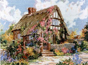 Cottage Marty Bell (Pegasus Originals Wepham Cottage Counted Cross Stitch Leaflet by Marty Bell)