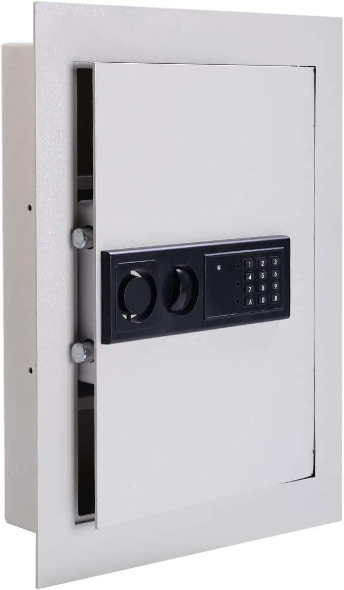 ReunionG Electronic Wall Safe Security Box, 83 CF Built-in Wall Electronic Flat Security Safety Cabinet, Large Jewelry Security-Paragon Lock & Safe
