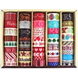 Recollections 45 Roll Washi Tape Holiday Collection: Valentines Day, Easter, Halloween, Christmas, Thanksgiving, New Years, Etc. Beautiful Selection Set