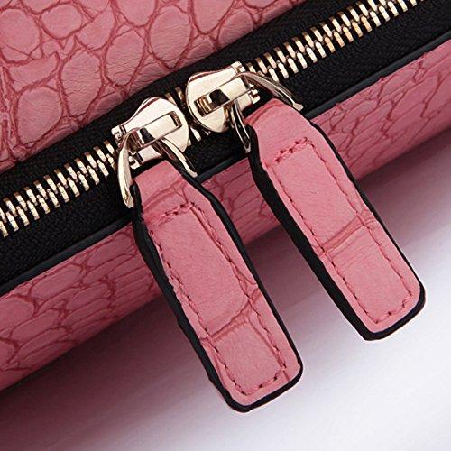 Bandoulière à Main Sac En à à Sacs Sac Diagonales Crocodile Pink Enveloppes Sacs Main à Mode wvxRx0zq