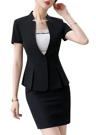 Traje Formal de 2 Piezas para Mujer, Traje de Oficina para Mujer ...