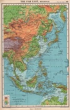 Cartina Dell Asia Orientale.Dell Estremo Oriente Fisico Indie Orientali Asia Orientale Bartholomew 1952 Old Antique Mappa Vintage Stampato Mappe Dell Asia Amazon It Casa E Cucina
