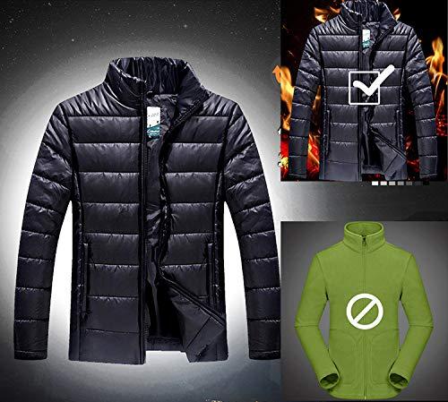YXP Men's Double Layer Jacket Waterproof Puff Liner Winter Cotton Coat