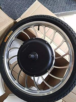 Rueda de motor de 20 pulgadas de buje de scooter de entrenamiento trasero con entrenamiento delantero para bicicleta para empuje eléctrico con neumático hinchable BLDC 48 V 1000 W: Amazon.es: Deportes y