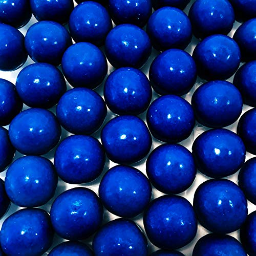 Royal Blue Gumballs - One Inch in Diameter - 2 Pound Bag - About 120 Gumballs Per Bag - Includes