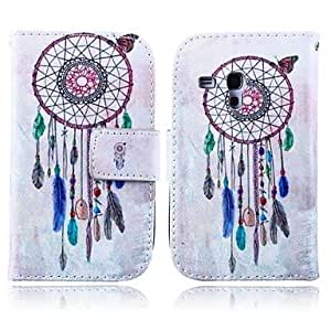 ZX Wind Chimes Pattern PU Leather Case with Stand for Samsung Galaxy S3 MINI I8190