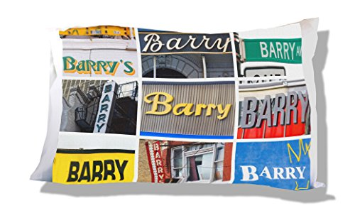 BARRY Pillowcase - featuring photos of signs Barry Pillowcase