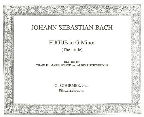 Little Fugue in G Minor (Bach Fugue In G Minor Violin Sheet Music)