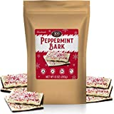 Peppermint Bark White & Dark Chocolate Layers Squares Snack Topped w/Pieces of Crushed Mint Candy Cane Chip Bits Perfect Holiday Tradition & Best Christmas Gifts No Artificial color Limited Edition