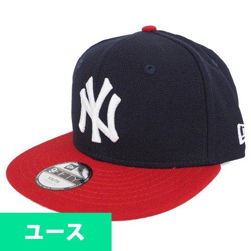 省可決深いNew Era(ニューエラ) ニューヨーク?ヤンキース キッズ 9FIFTY スナップバック キャップ (ネイビー/スカーレット)
