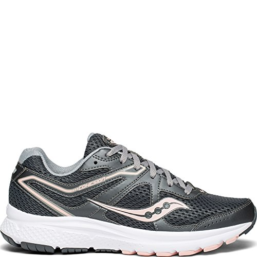 Saucony Women's Cohesion 11 Sneaker, Charcoal/Peach, 9 M US by Saucony