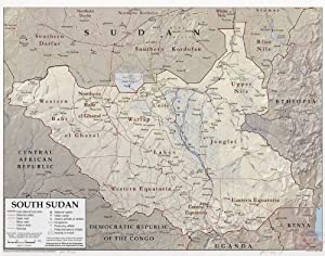 Amazon map poster south sudan 24x19 posters prints map poster south sudan 24x19 gumiabroncs Gallery