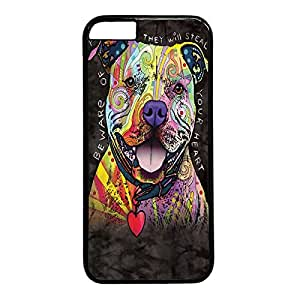 Beware Of Pit Bulls Custom Back Phone Case for iphone 6 4.7 PC Material Black -1218382
