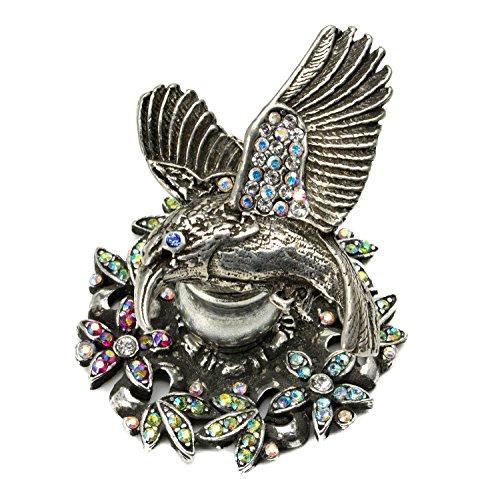 - Carpe Diem Hardware 22932751-9-81 In the Garden Hummingbird Knob with Swarovski Crystals, Chalice