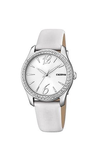 Calypso Reloj Análogo clásico para Mujer de Cuarzo con Correa en Cuero K5717/1: Calypso: Amazon.es: Relojes