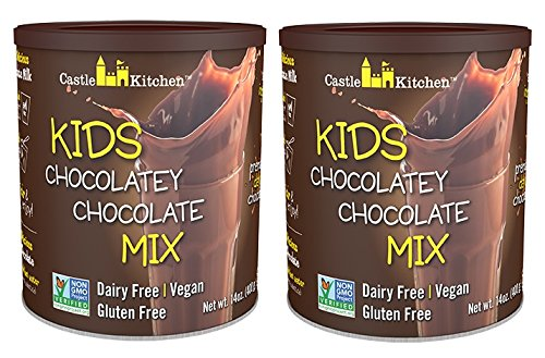 Chocolate Drink Mix Powder For Kids - All Natural, Dairy-Free, Vegan Chocolate Milk Mix - Just Add Any Milk Substitute - 14 oz (Pack of 2) (Best Chocolate Milk For Kids)