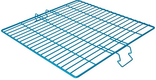 Carlisle C9314 OptiClean Vinyl-Coated Stainless Steel Wire Hold-Down Grid, 17-7/8'' L x 17-7/8'' W x 19/64'' H, Carlisle Blue (Case of 6) by Carlisle