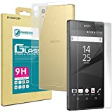 """Rhidon Sony Xperia Z5 Premium / Z5P (Front + Back) Tempered Glass Screen Protectors Anti Fingerprint Bubble Free Shatterproof Shockproof Protective Skin Film for Sony Xperia Z5P (5.5"""")"""