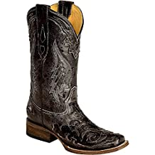 Corral Women's Vintage Python Inlay Cowgirl Boot Square Toe - A2402