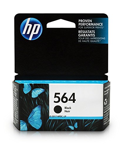 HP 564 Black Ink Cartridge (CB316WN) for HP Deskjet 3520 3521 3522 3526 Officejet 4610 4620 4622 Photosmart 5510 5514 5515 5520 5525 6510 6512 6515 6520 6525 7510 7515 7520 7525 B8550 C6340 C6350… (Ink 564 Black)