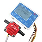 DIGITEN 3/8'' Flow Control LCD Display+Oil Fuel Gasoline diesel Milk Water Gear Sensor