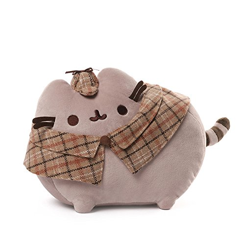 GUND Pusheen Detective Cat Plush Stuffed Animal, Gray, 12.5
