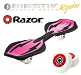 PINK Razor Ripster Castor Board with an Extra Set of 68mm Red RIPSTER Replacement Wheels - Mini Ripstik