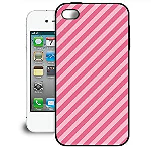 Bumper Phone Case For Apple iPhone 4/4S - Double Pink Stripes Premium Cover