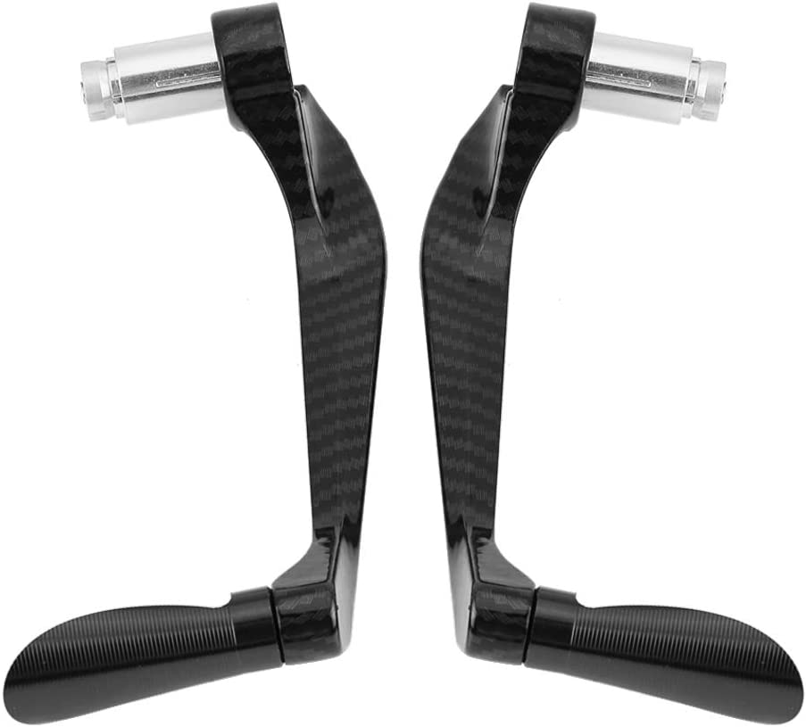 Motorcycle Lever Guard Black Motorcycle Brake Clutch Guard Carbon Fiber Levers Protectors for 7//8 Inch 22mm Motorcycle Handlebar Fits for Most of Motorcycles and Scooters