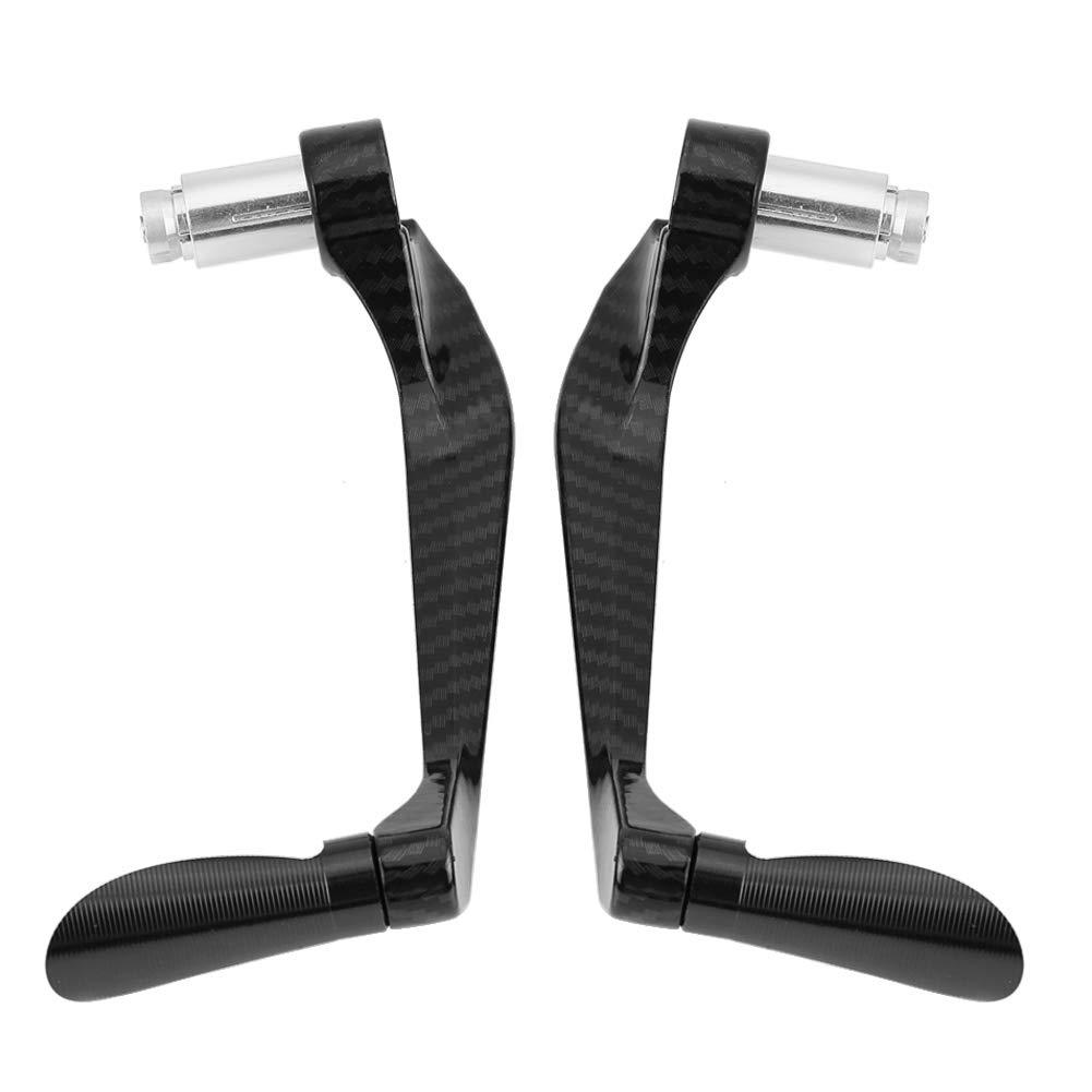 Akozon 1 par de embrague de freno motocicleta de fibra de carbono palancas de embrague de freno manillar protector de protecci/ón Negro