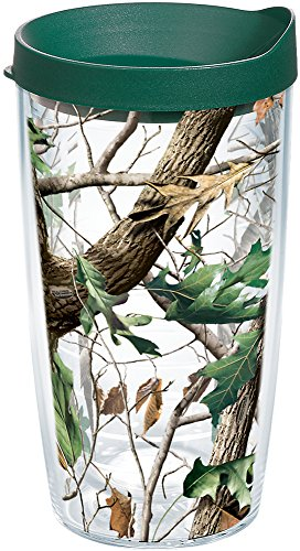 Tervis 1159605 Realtree - Camo Hardwoods Knockout Tumbler with Wrap and Hunter Green Lid 16oz, -