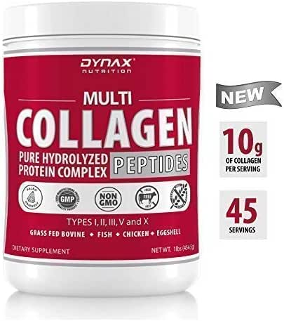 Collagen Powder – Premium Multi Collagen Peptide Protein Powder Supplement (Types I, II, III, V & X) That's Grass Fed, Non-GMO and Gluten Free – Hair Growth, Anti-Aging, Joint Pain Relief (16oz)