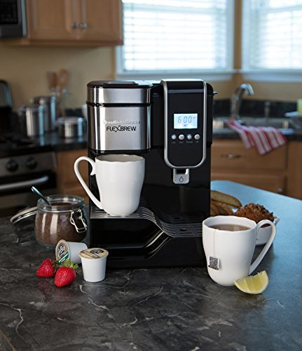Hamilton Beach single-serve cafetera eléctrica programable, FlexBrew con dispensador de agua caliente (49988): Amazon.es: Hogar