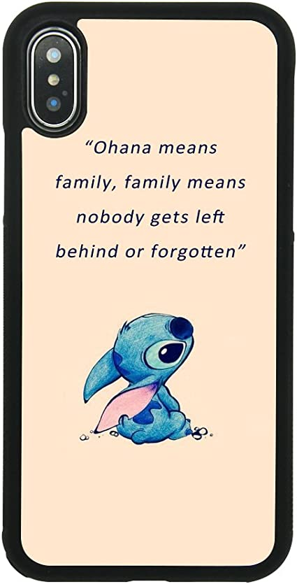 Lilo and Stitch Ohana Quote for Funda iphone and Funda Samsung