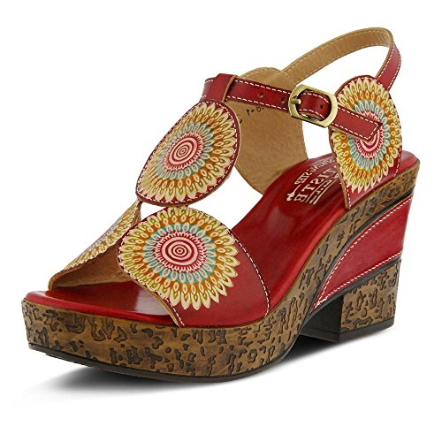 L'Artiste by Spring Step Women's Hydrangea Red Sandal