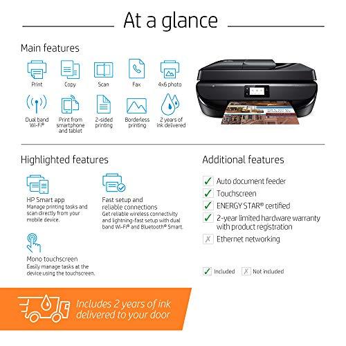 HP OfficeJet 5260 Impresora inalámbrica todo en uno - Incluye 2 años de tinta suministrada a su puerta (Z4B13A)