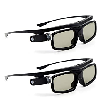 Docooler GL1800 Gafas 3D Pack de 2 Unisex,Obturador Activo DLP ...