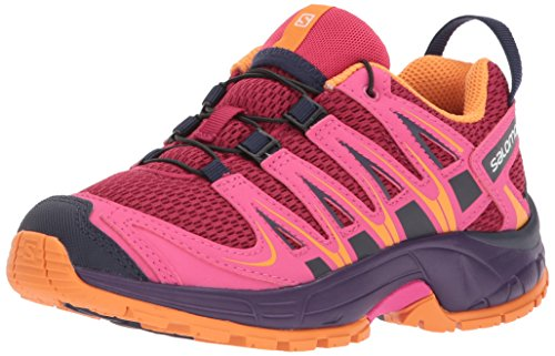 SALOMON Unisex-Kid's XA PRO 3D J Trail Running Shoe, Cerise, 2 M US