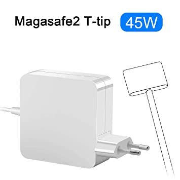 Opluz Compatible con Cargador Macbook Air 45W Adaptador de Corriente MagSafe 2 de T Adaptador de Corriente para MacBook Air 11
