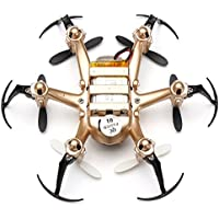 Kids RC Hexacopter 4CH 2.4GHz 6 Axis Gyro RTF Headless Mode Mini Drone Aircraft 3D Rollover Toy Golden