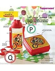 [Sponsored]Tupperware Mickey And Goofy Sandwich Keeper and School Bottle