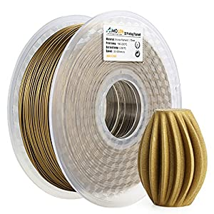 AMOLEN 3D Printer Filament,Frosted Bronze 1.75mm PLA Filament for 3D Printing +/- 0.03 mm from AMOLEN