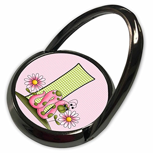 t Baby Monograms - I is for Inch Worm in Pink and Green for Girls Baby and Kids Monogram I in Gingham Prints - Phone Ring (phr_62858_1) ()