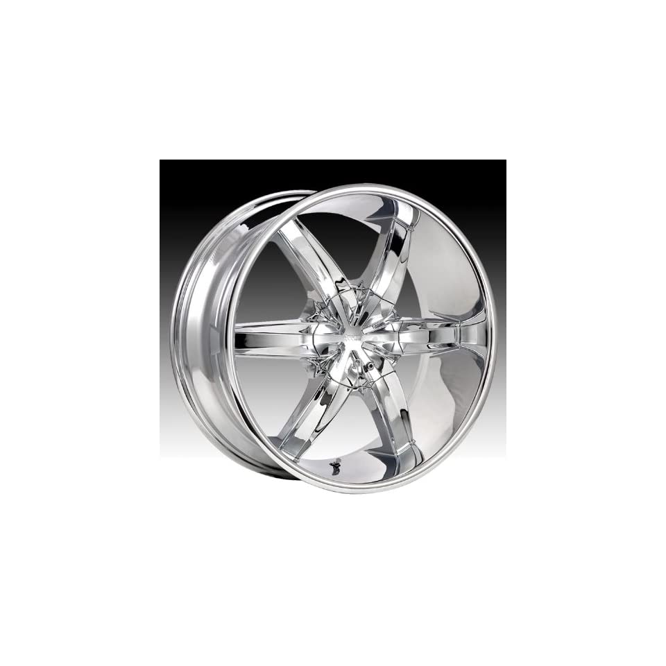 Cruiser Alloy Flash 17x7.5 Chrome Wheel / Rim 5x4.25 & 5x4.5 with a 42mm Offset and a 73.00 Hub Bore. Partnumber 909C 7751442