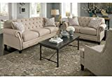 Kourtney 3 Pc. Living Room With Highback Chair - Loveseat - Sofa