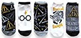 Harry Potter Juniors/Womens 5 Pack Ankle Socks Shoe Size 4-10 (HP1)