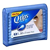 Q-Tips Cotton Swabs Purse Travel Size Pack, 30 Count Pack of 12 by Q-Tips