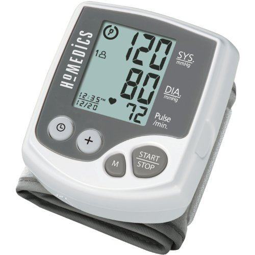 Bonus Case Protective (Homedics Automatic Wrist Blood Pressure Monitor | 2 Users, 120 Stored Readings, Memory Average Function | Fast Accurate Readings, BONUS Protective Case Included)