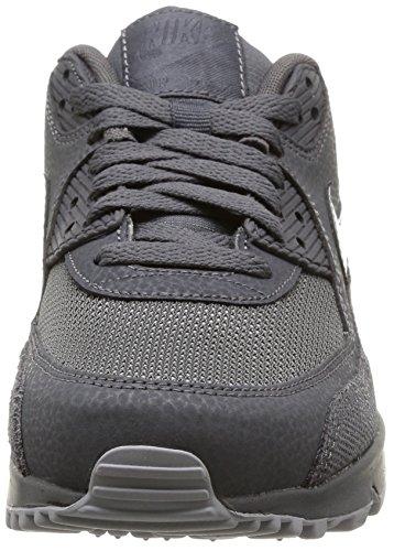 Nike WMNS Air Max 90 Prem, Chaussures pour Le Sport Et Les Loisirs en extérieur Femme Noir - Schwarz (Dark Grey/Wolf Grey)